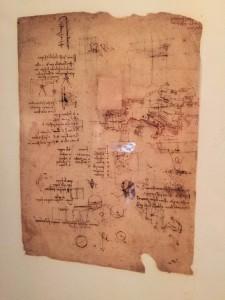 """达芬奇笔记的复制品;他的习惯是""""倒写"""""""