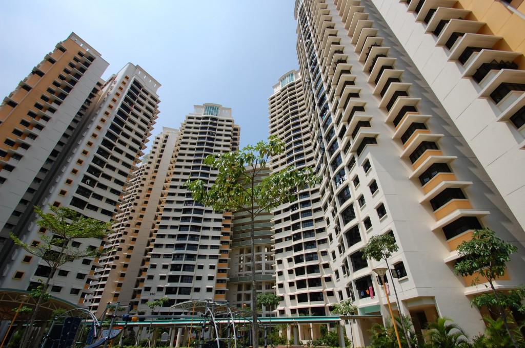 新加坡建屋发展局所建的组屋处处可见