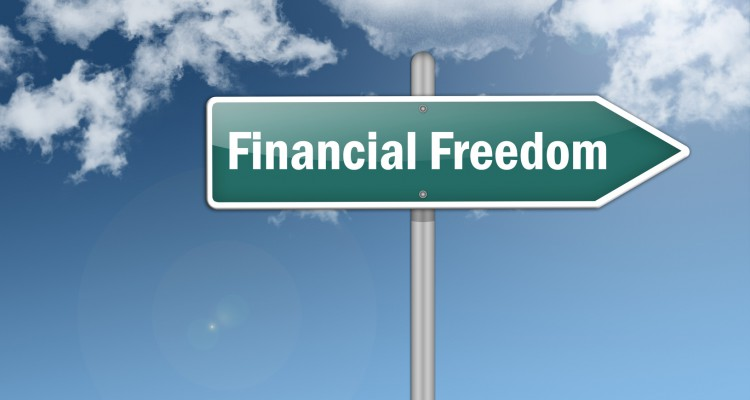"Signpost ""Financial Freedom"""