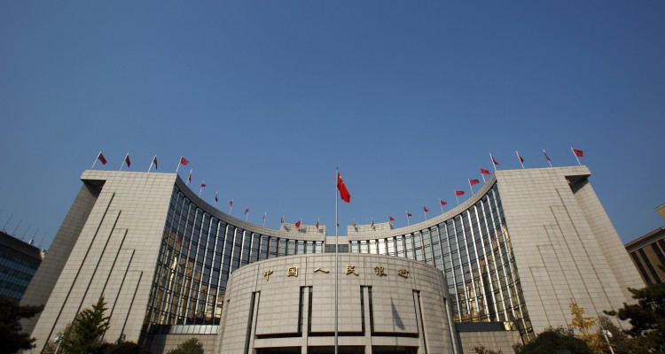 Views Of The People Bank Of China (PBOC) As Central Bank Raises Its Fixing By The Most In Four Years
