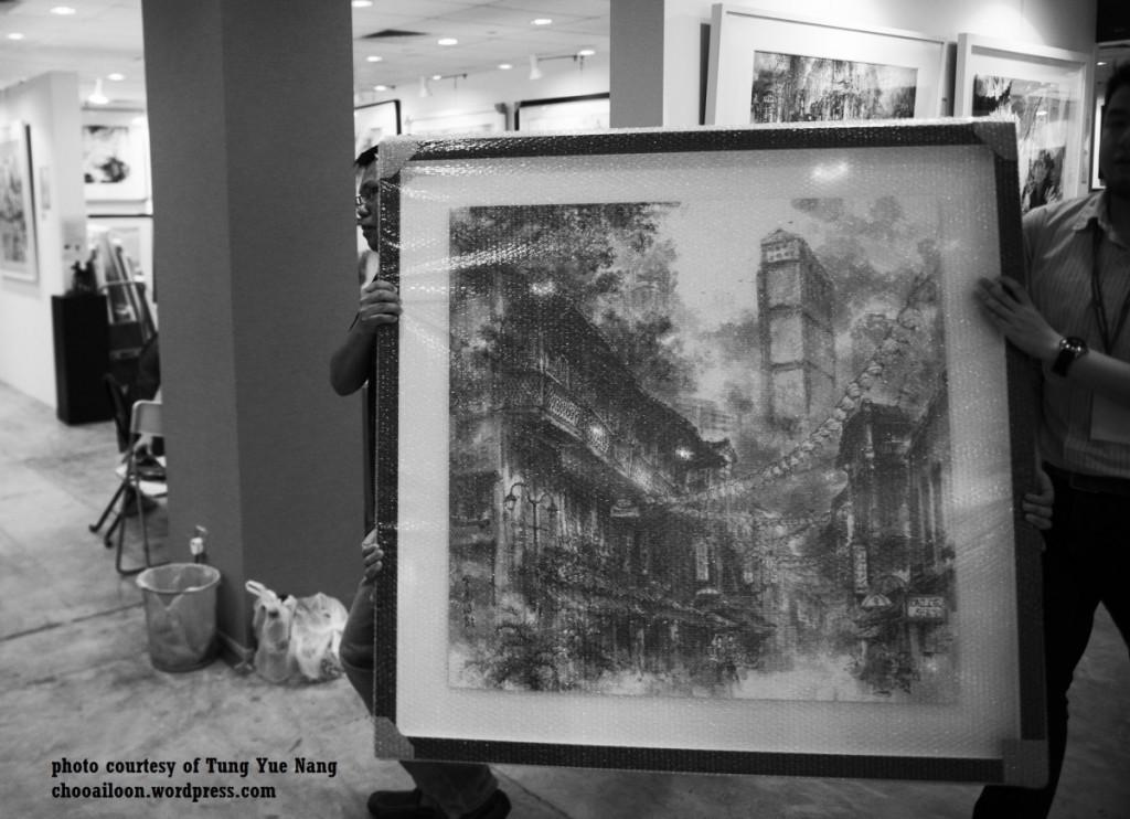邓汝能的作品在艺术博览会上炙手可热 照片来源:邓汝能