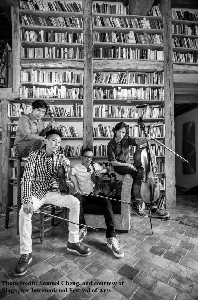 古典弦乐组合唐四重奏(T'ang Quartet) 照片来源:新加坡国际艺术节