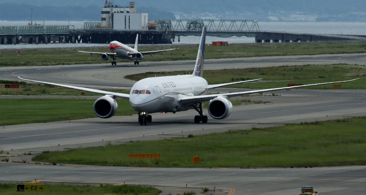 Airplanes And Passengers At Kansai International Airport As New Kansai International Airport Co. Plans To Select Preferred Bidders In July