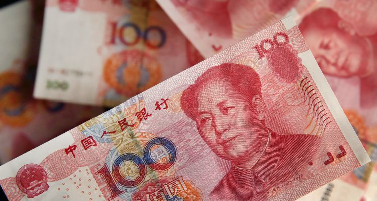 Stocks Boards And Chinese Yuan Banknotes AS China Devalues Yuan by Most in Two Decades