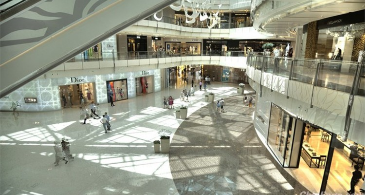 Interior image of a mall