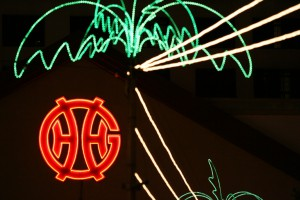 Genting logo lights up in the dark