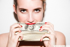 Girl eat money