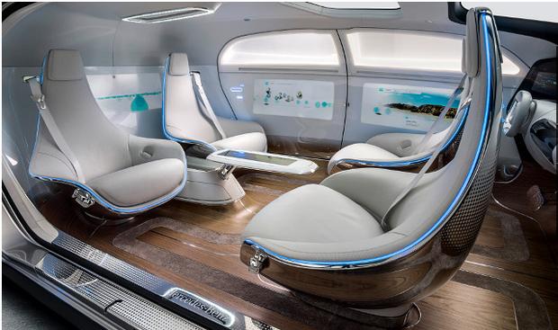 马赛地(Mercedes)的无人驾驶概念车