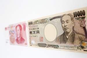 Images of the Yuan And yen Currency As They Begin Direct Trading