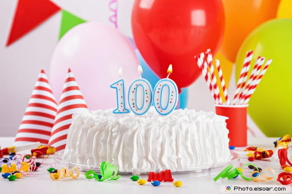 Happy-Birthday-Wishes-For-100-Year-Old-With-Cake