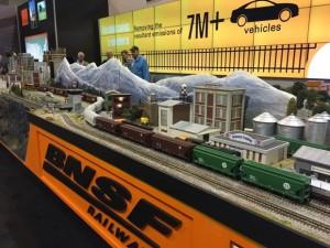 伯灵顿北圣达菲铁路公司在会展厅中的模型 照片来源:FifthPerson.com