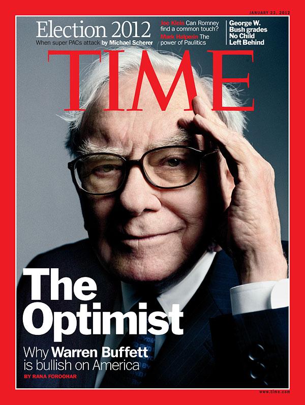 巴菲特是乐观主义者;来源:Time
