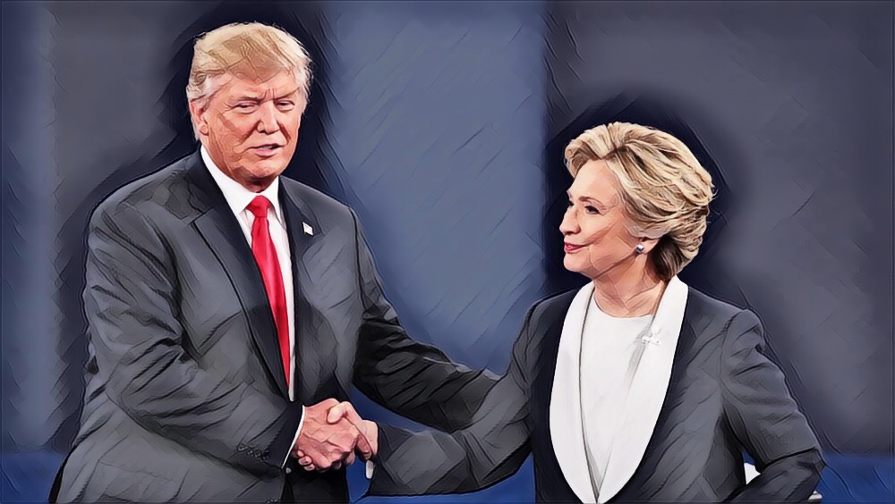 Second Debate Handshake