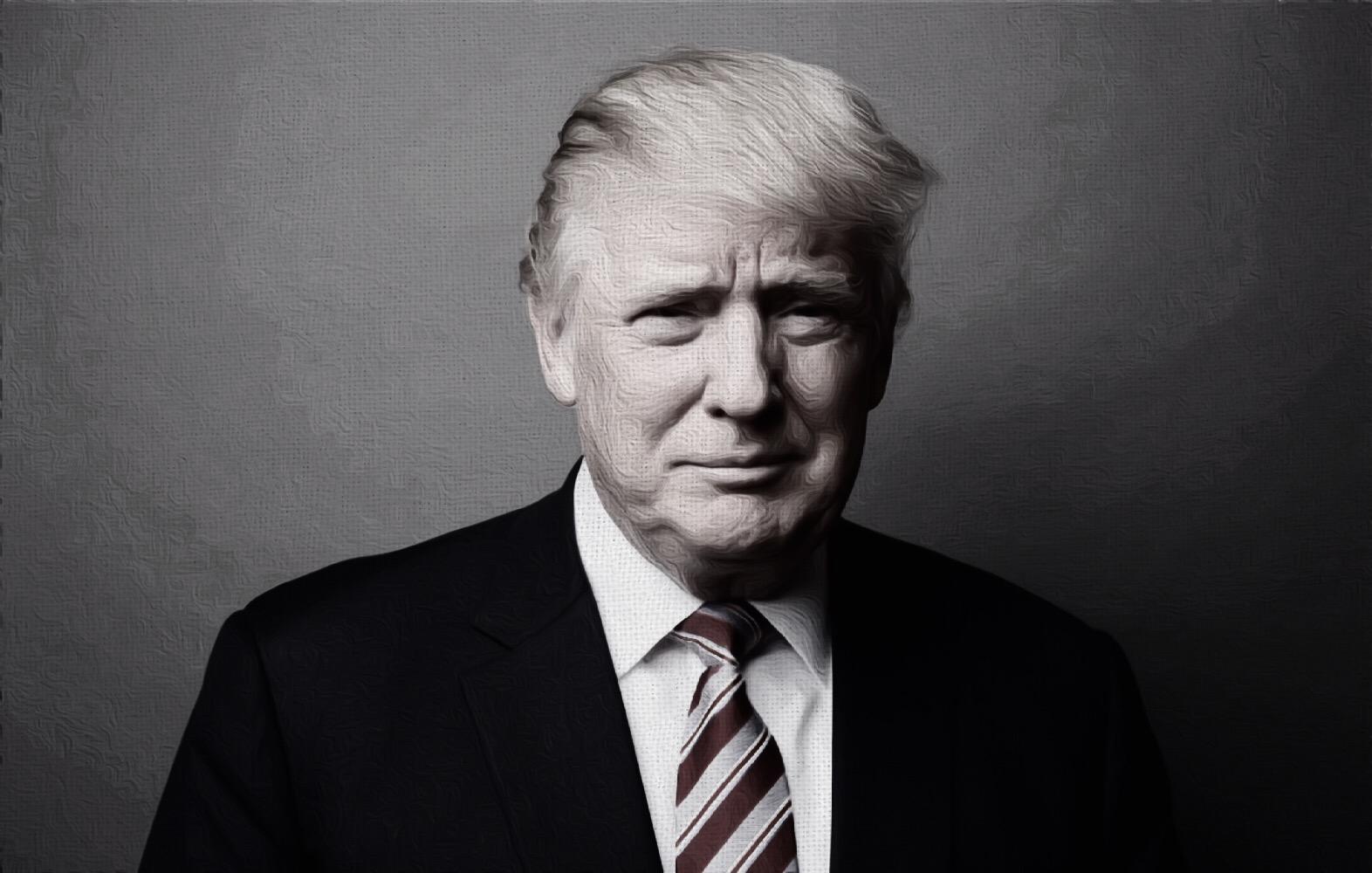 Trump Black and White