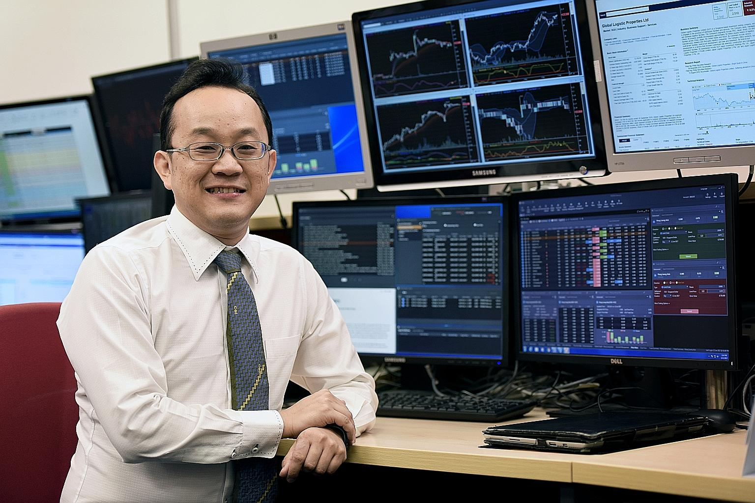 辉立证券执行董事Luke Lim先生。图片来源:《海峡时报》ST PHOTO: NIVASH JOYVIN