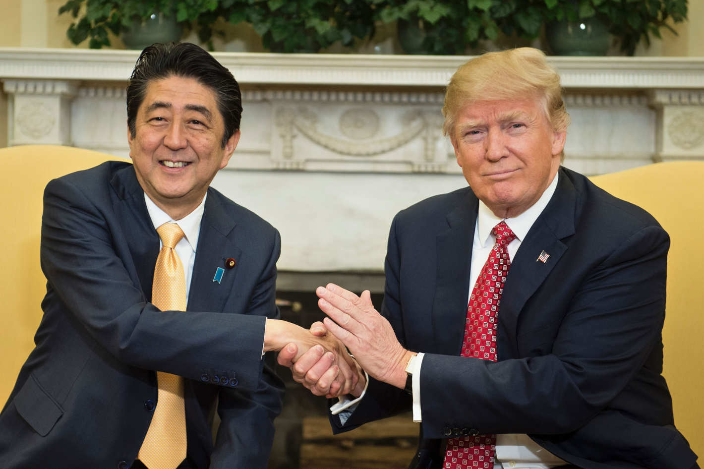 Shinzo Abe and Trump