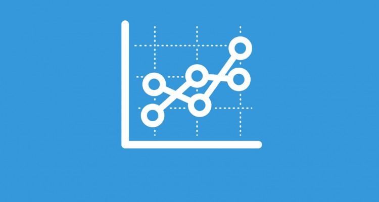 Stock Chart Blue
