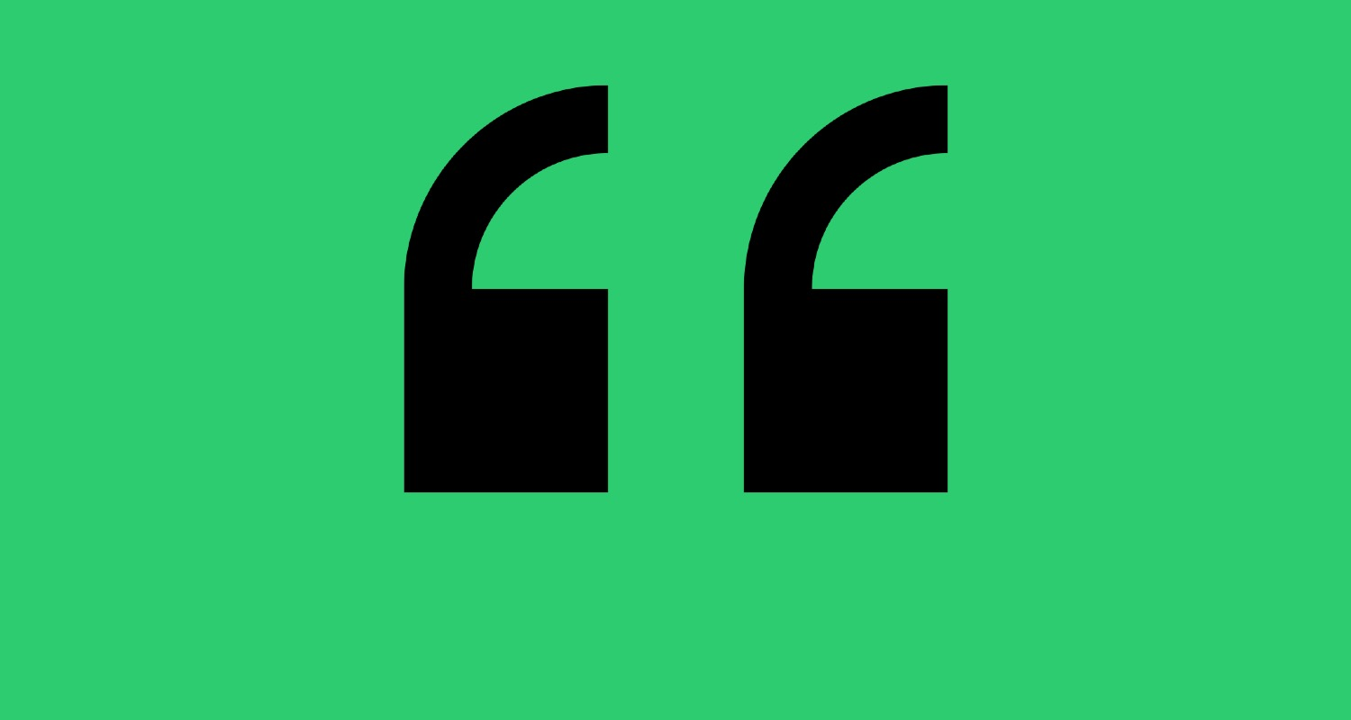 Daily Quote Green