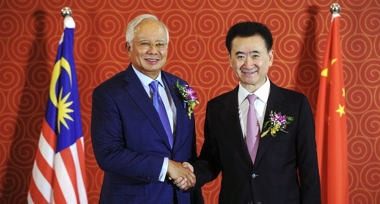 Najib and Wang Jianlin
