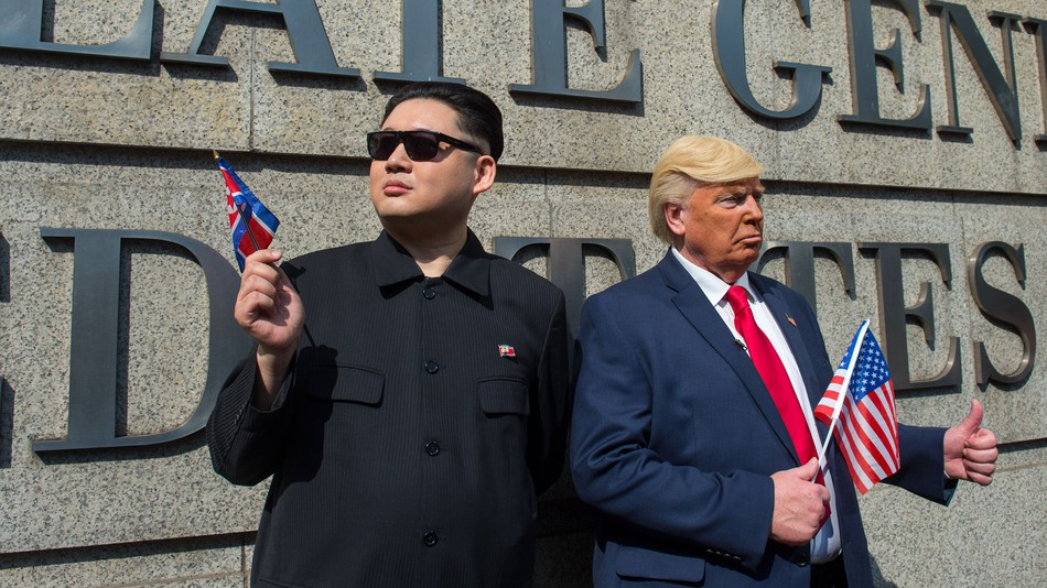 Kim and Trump Impersonators