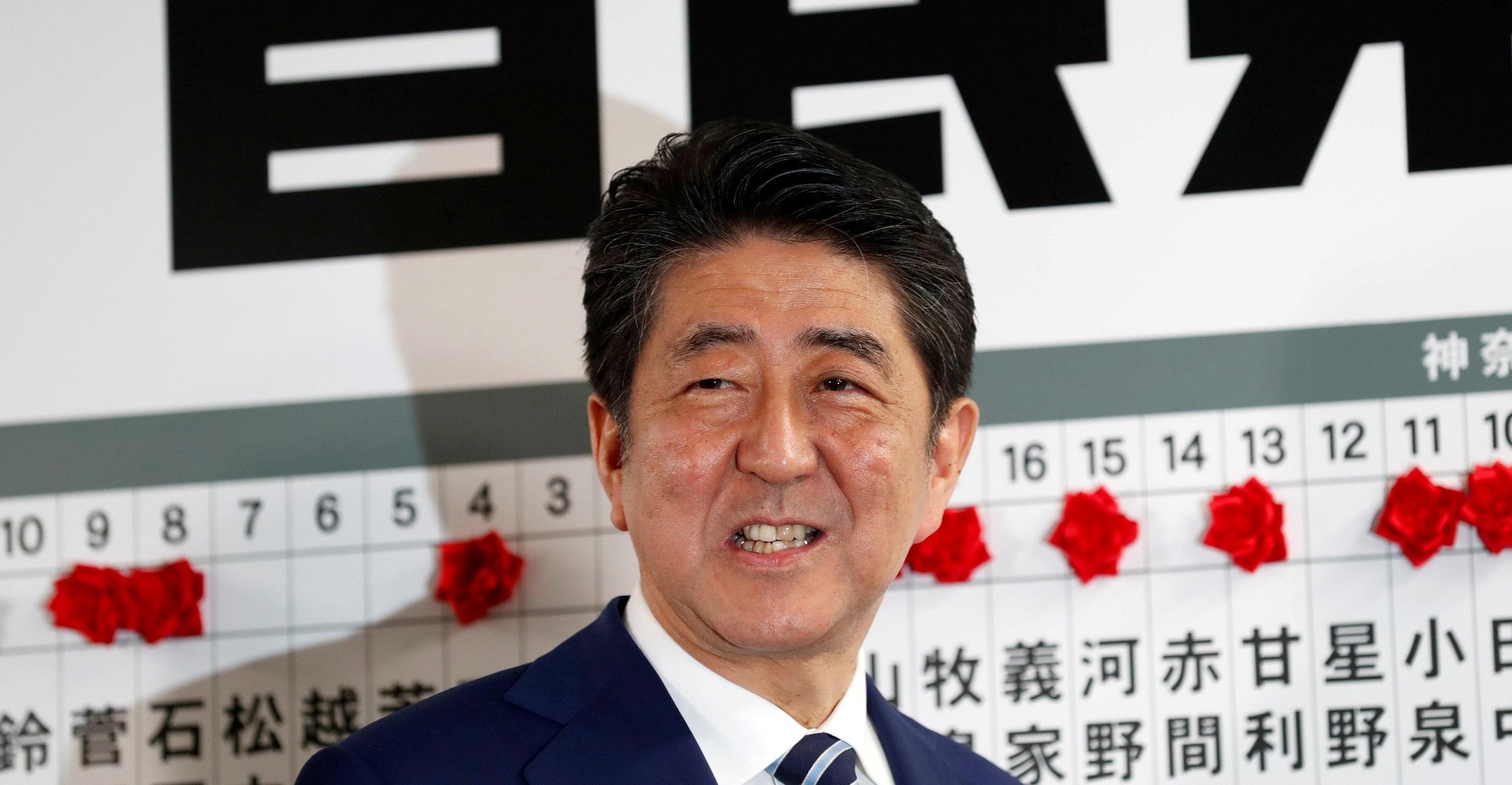 Shinzo Abe Winning Election