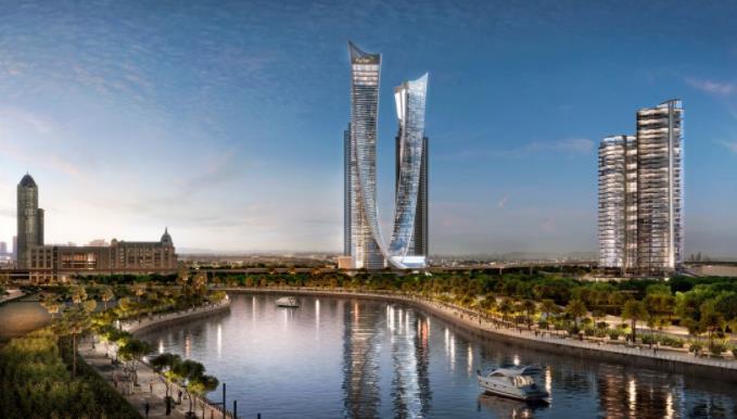 DAMAC在迪拜运河河畔发展的混合用途项目AYKON City
