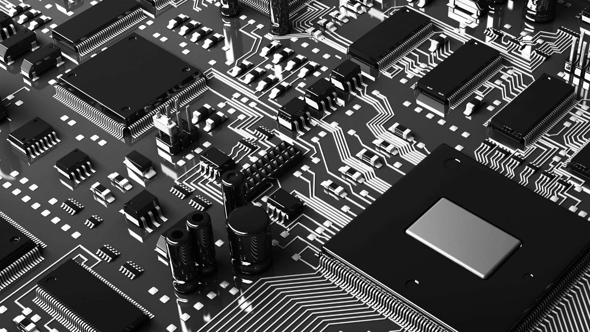 circuit board black and white