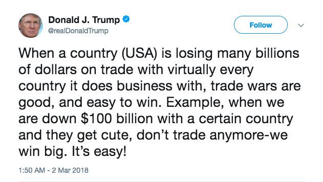 特朗普的推特留言